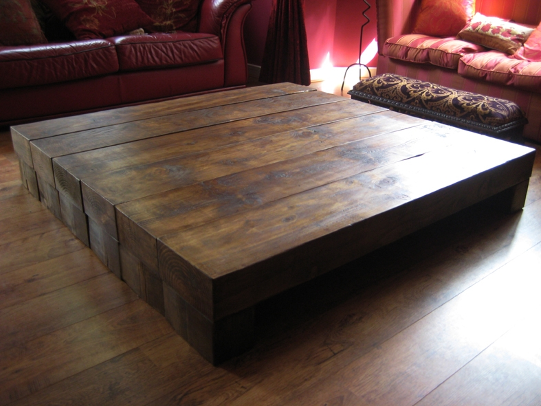 Excellent Fashionable Chunky Wood Coffee Tables Intended For Big Wood Coffee Tables Gallery Image Uspudocs (Image 13 of 50)