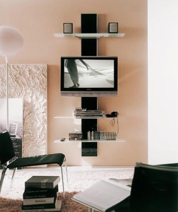 Excellent Fashionable Cream Color TV Stands Regarding Cream Color Tufted Bench Combined Clear Acrylic Pointed Legs (Image 19 of 50)
