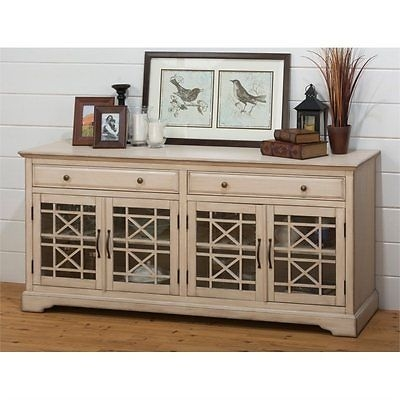 Excellent Fashionable Cream Color TV Stands Regarding Jofran Craftsman 70 Console Table Antique Cream Tv Stand Whats (Image 20 of 50)