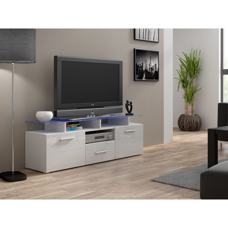 Excellent Fashionable Cream Gloss TV Stands With Regard To Cream Tv Units High Gloss Amazing Eran Tv Unit White High Gloss (View 27 of 50)