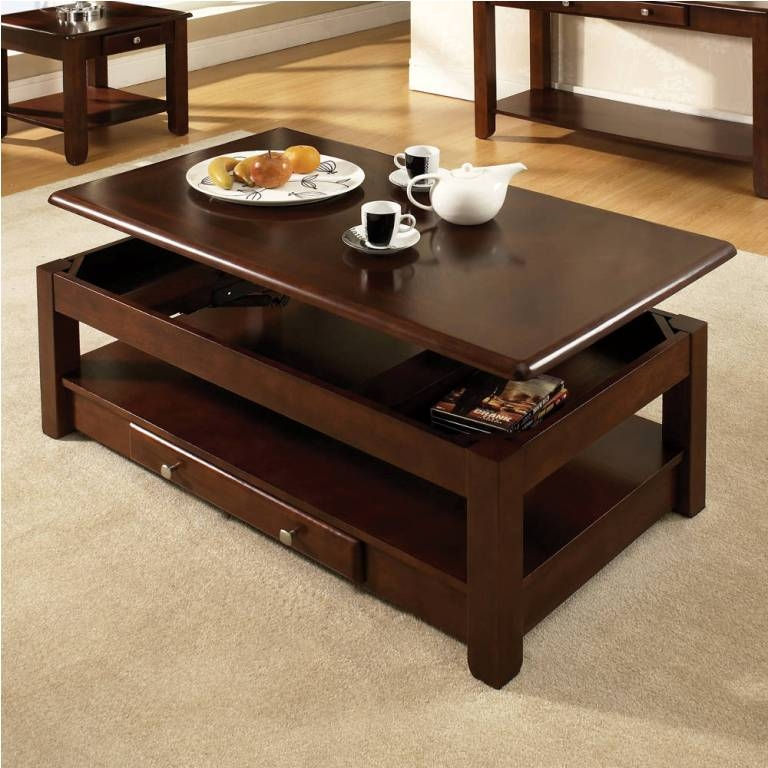Excellent Fashionable Dark Wood Coffee Table Storages For Coffee Table Amazing Coffee Tables That Lift Up Design Lift Top (Image 13 of 50)