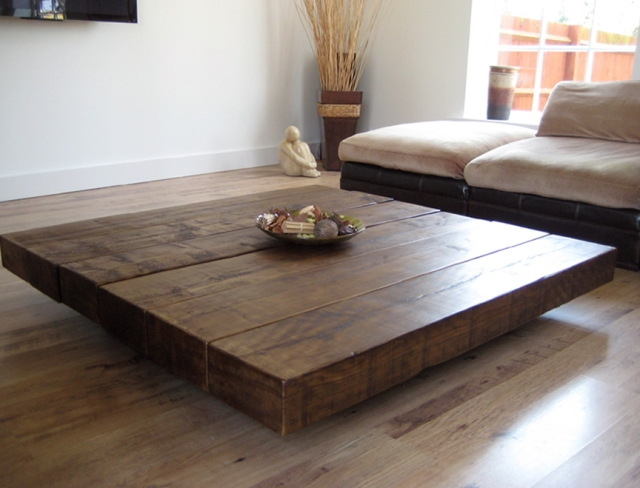 Excellent Fashionable Dark Wood Square Coffee Tables For Large Coffee Tables (Image 13 of 50)
