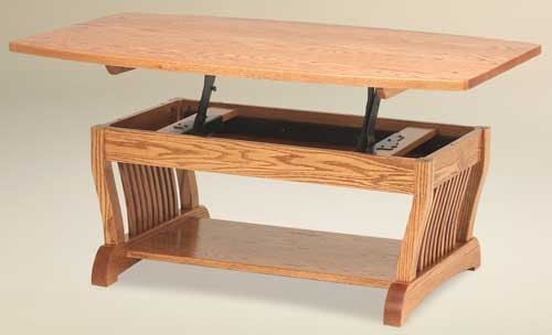 Excellent Fashionable Lift Top Oak Coffee Tables Throughout 33 Off Royal Mission Lift Top Coffee Table In Oak Solid Wood (Image 11 of 40)