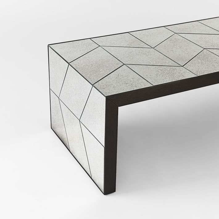 Excellent Fashionable Mirrored Coffee Tables Pertaining To Herringbone Mirror Coffee Table West Elm (View 45 of 50)
