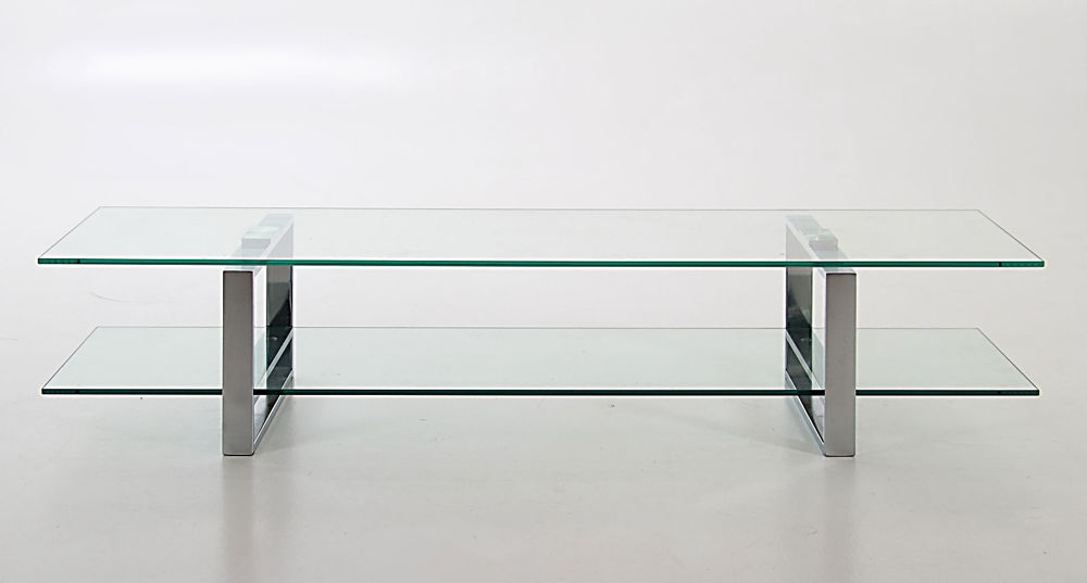 Excellent Fashionable Modern Glass TV Stands In Modern Stylish Clear Glass And Chrome Tv Table Tv Stand With (Photo 45 of 50)