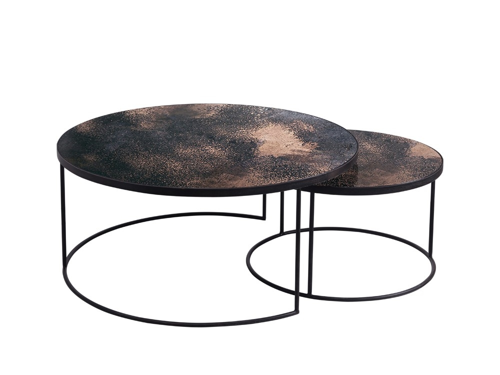 Excellent Fashionable Nest Coffee Tables Throughout Round Nesting Coffee Table (Image 8 of 50)