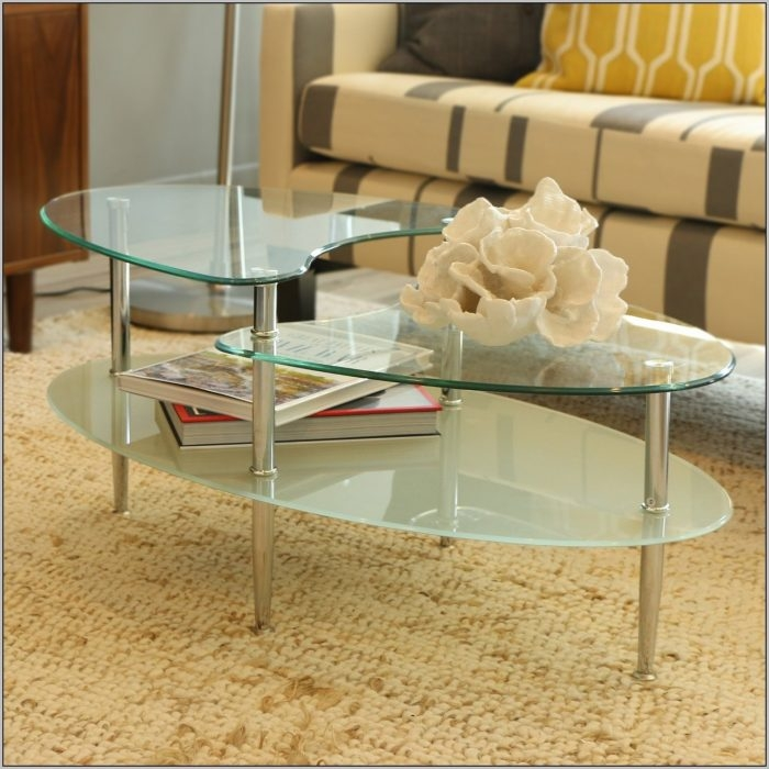 Excellent Fashionable Oval Shaped Glass Coffee Tables With Oval Shaped Glass Coffee Tables Coffee Table Home Decorating (Image 16 of 50)