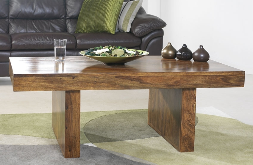 Excellent Fashionable Sheesham Coffee Tables In Cuba Sheesham Block Coffee Table Oak Furniture Solutions (View 26 of 50)