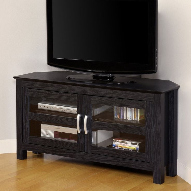Excellent Fashionable Small Black TV Cabinets Within Best 25 Black Corner Tv Stand Ideas On Pinterest Small Corner (Image 17 of 50)