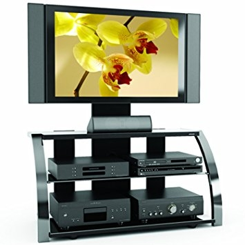 Excellent Fashionable Sonax TV Stands Throughout Sonax Ml 1454 Milan 3 In 1 Gun Metal Tv Stand Amazonca Home (View 22 of 50)
