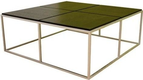 Excellent Fashionable Square Large Coffee Tables For Fine Black Square Coffee Table In Dark Inside Decor (Image 9 of 50)