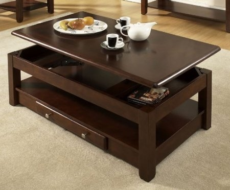 Excellent Fashionable Top Lifting Coffee Tables Intended For Hydraulic Coffee Table Idi Design (View 44 of 48)
