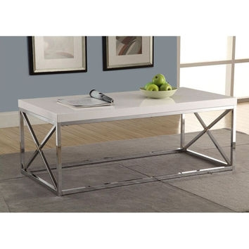Excellent Fashionable White And Chrome Coffee Tables Inside Shop Modern White Coffee Table On Wanelo (View 19 of 50)