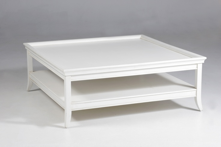 Excellent Fashionable White Square Coffee Table Inside Outstanding White Square Coffee Table Design (Image 8 of 50)