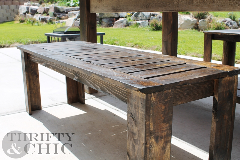 Excellent Fashionable Wooden Garden Coffee Tables Pertaining To Homemade Wooden Bench Plans Wood Garden Bench Diy Plans Park (Image 12 of 50)