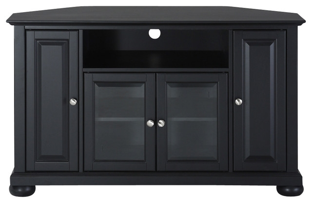 Excellent Favorite Black Corner TV Cabinets For Alexandria 48 Corner Tv Stand Traditional Entertainment (View 5 of 50)