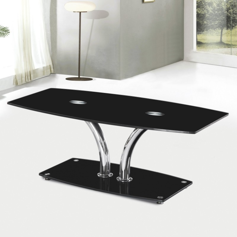 Excellent Favorite Black Glass Coffee Tables  Pertaining To Hansen Black Glass Coffee Table Cheap Home Furniture (Image 20 of 50)