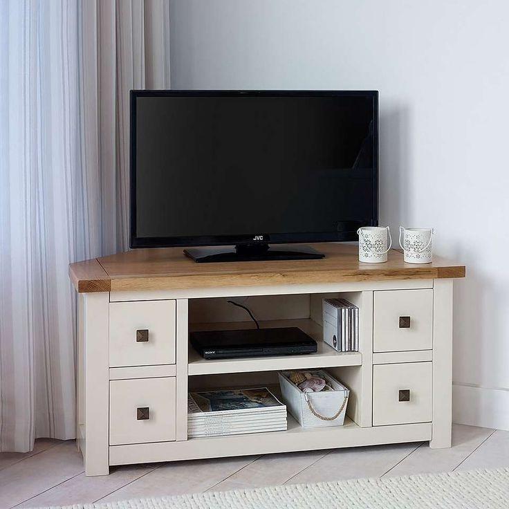 Excellent Favorite Cream Color TV Stands Regarding 23 Best Corner Tv Stands Images On Pinterest (Image 22 of 50)