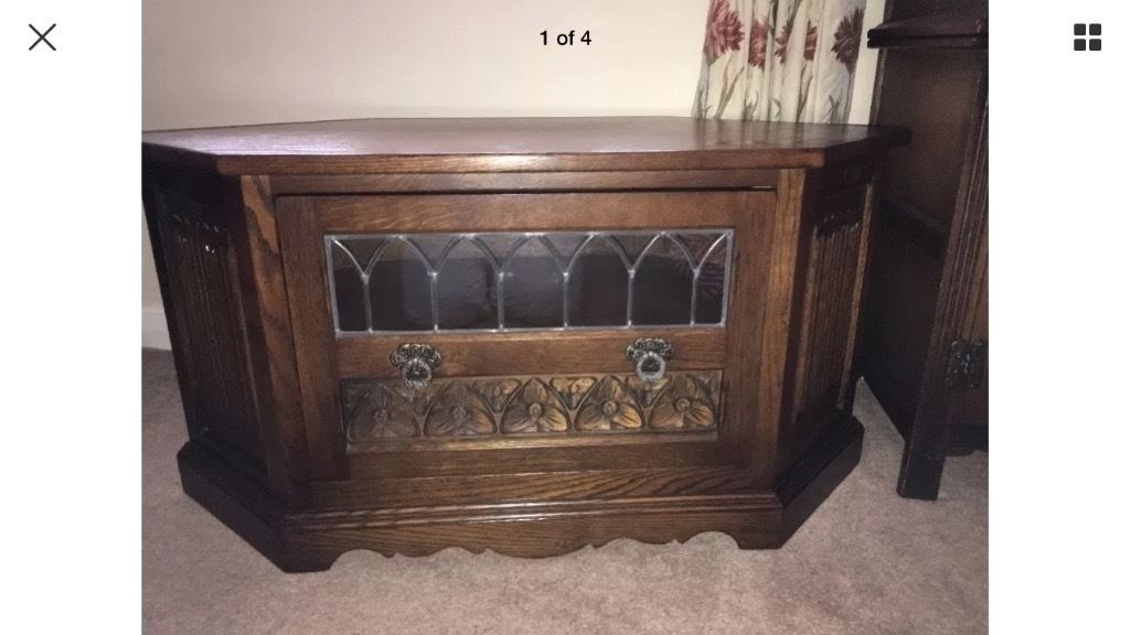 Excellent Favorite Dark Oak Corner TV Cabinets With Old Charm Dark Oak Corner Tv Unit In Morpeth Northumberland (Image 17 of 50)