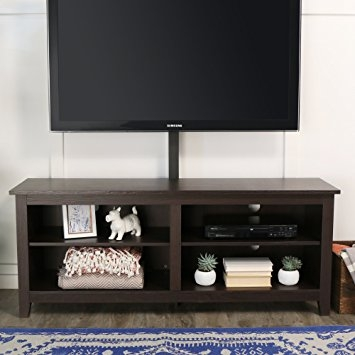 Excellent Favorite Expresso TV Stands Pertaining To Amazon We Furniture 58 Wood Tv Stand Console With Mount (Image 15 of 50)