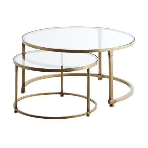 Excellent Favorite Glass Circular Coffee Tables Intended For Round Bronze Coffee Table Idi Design (Image 14 of 50)