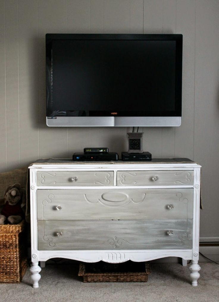 Excellent Favorite Low Long TV Stands Throughout Tv Stands 10 Inspiring Antique White Tv Stand Design Ideas (Image 12 of 50)