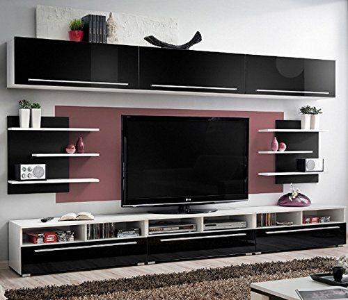 Excellent Favorite Modular TV Stands Furniture Pertaining To Amazon Conte Contemporary Wall Unit Modern Style Tv Stands (Image 11 of 50)