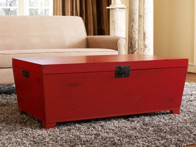 Excellent Favorite Red Round Coffee Tables Intended For Table Red Ottoman Coffee Table Home Interior Design (View 12 of 50)