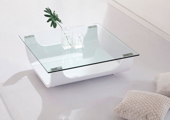 Excellent Favorite Square Shaped Coffee Tables For Coffee Table Glass And White Coffee Table Iceberg Contemporary (View 4 of 50)
