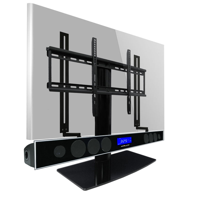 Excellent Favorite TV Stands With Mount With Regard To Universal Tv Stand Kit With Bluetooth Soundbar And Soundbar Mount (Image 13 of 50)