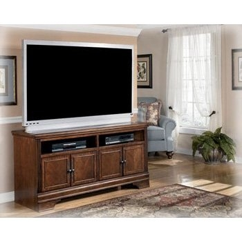 Excellent High Quality Brown TV Stands Pertaining To Amazon North Shore Traditional Tv Stand Kitchen Dining (View 15 of 45)
