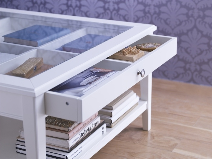 Excellent High Quality Coffee Tables With Glass Top Display Drawer Regarding Display Coffee Table Modern Glass Coffee Tables Uk Beech Coffee (Image 14 of 40)