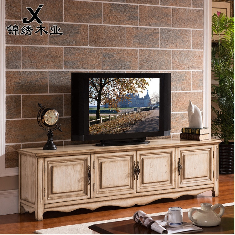 Excellent High Quality Country Style TV Cabinets For American Country Style Small Apartment Wall Audiovisual Cabinet Tv (View 21 of 50)