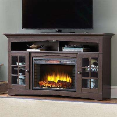 Excellent High Quality Cream Corner TV Stands In Tv Stands Living Room Furniture The Home Depot (Image 15 of 50)