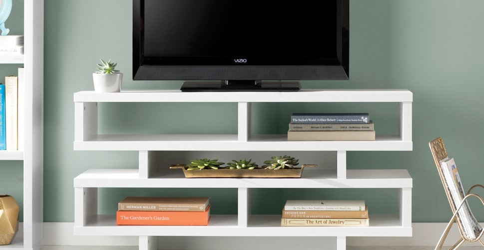 Excellent High Quality Cream Corner TV Stands Within Tv Stands Flat Screen Tv Stands Youll Love (Image 16 of 50)