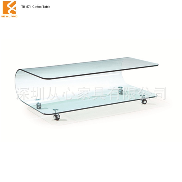 Excellent High Quality Curved Glass Coffee Tables Inside Zero Profit Tb571u Curved Glass Coffee Table Small Apartment (Image 12 of 50)