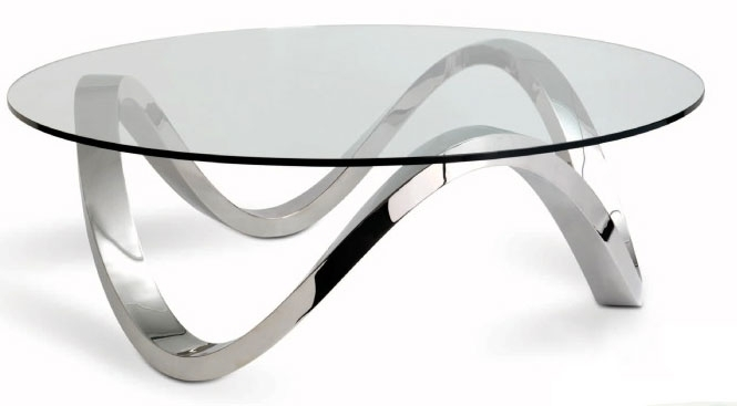 Excellent High Quality Glass Chrome Coffee Tables In Round Chrome Coffee Table (Image 12 of 40)