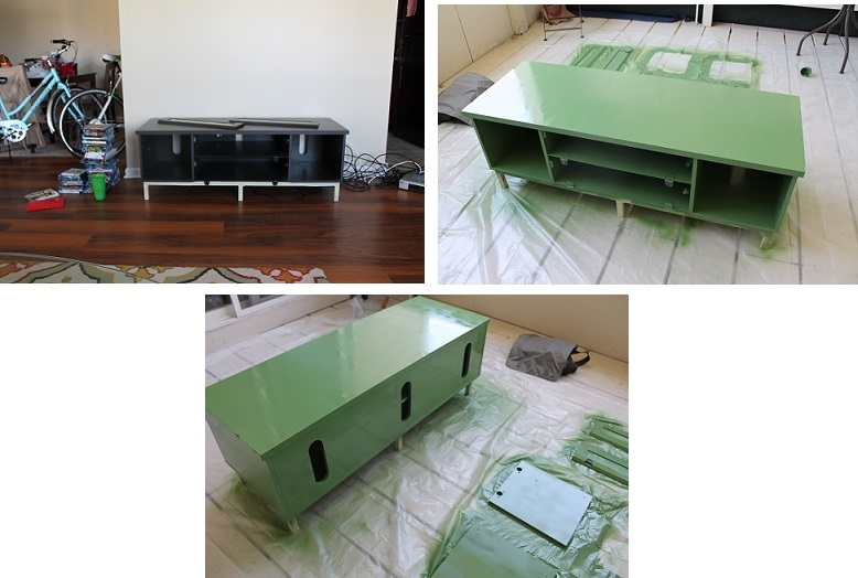 Excellent High Quality Green TV Stands Throughout Diy Tv Stand Yellow Mondays (Image 14 of 50)