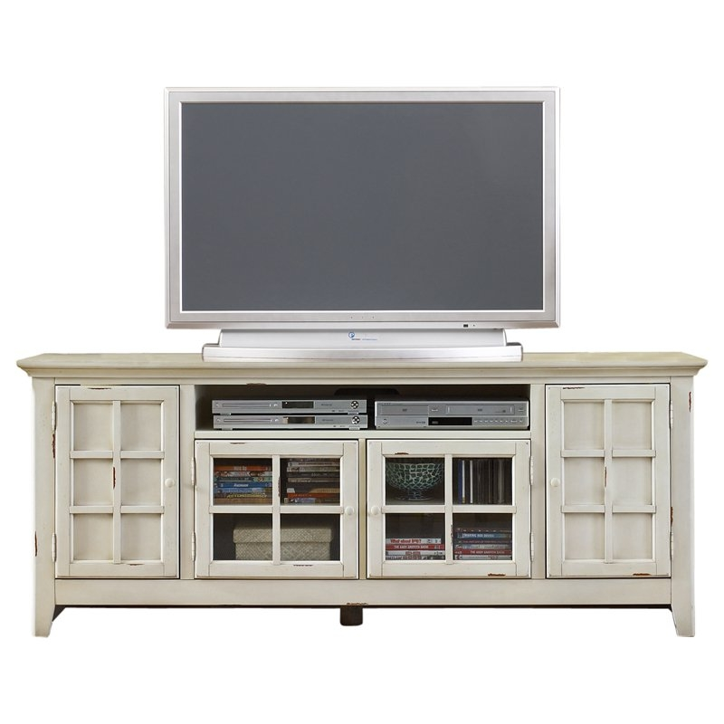 Excellent High Quality Long White TV Cabinets With Liberty Furniture New Generation Transitional Tv Stand In Vintage (Image 13 of 50)