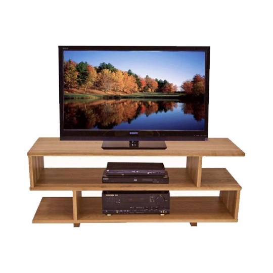 Excellent High Quality Rectangular TV Stands Pertaining To Contemporary S Shape Wooden Tv Stand Tv Stands Brown Vermont Woods (Image 14 of 50)