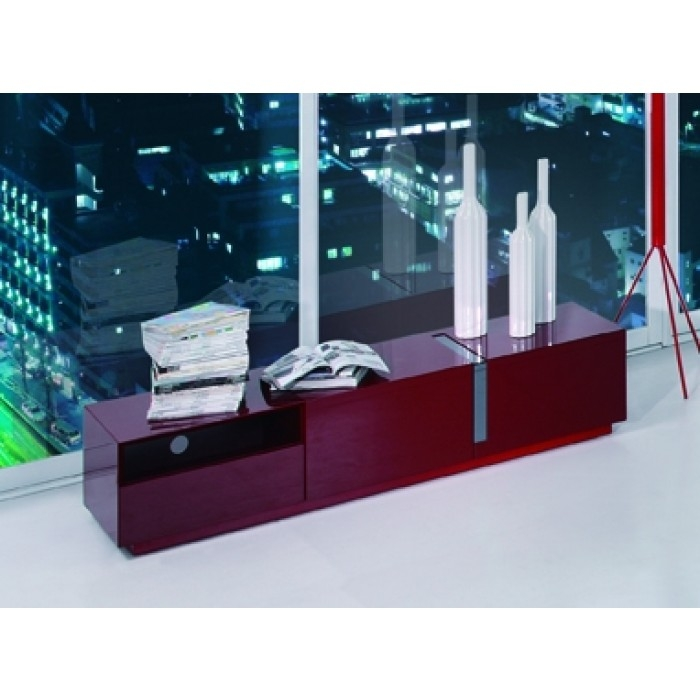 Excellent High Quality Red TV Stands With Regard To Pisa Modern Red Tv Stand (Image 14 of 50)