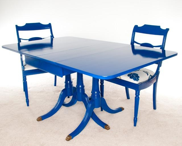 Excellent Ideas Blue Dining Table Stylish Cobalt Blue Dining Table With Blue Dining Tables (Image 16 of 20)
