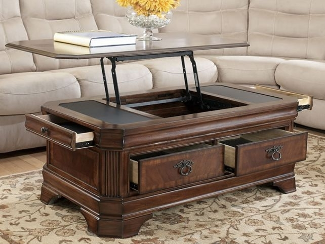 Excellent Latest Coffee Tables With Lift Top And Storage Pertaining To Coffee Table Design Top Traditional Custom Coffee Table Decor For (Image 9 of 50)