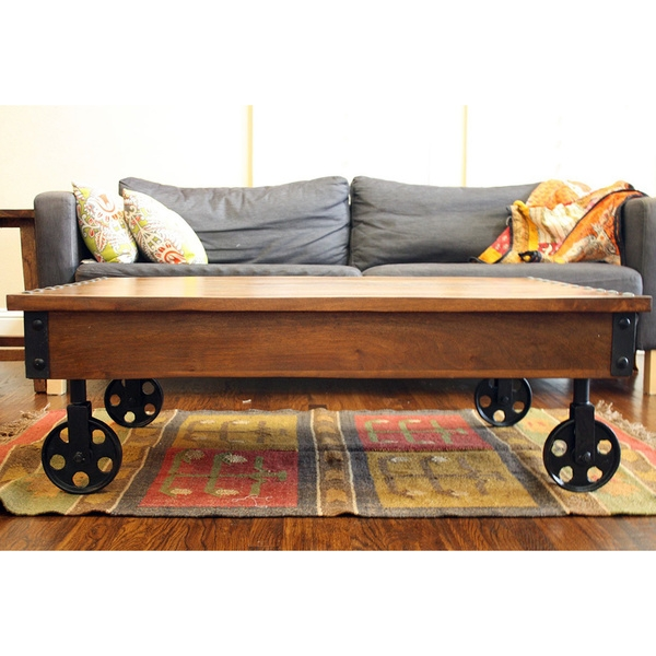 Excellent Latest Coffee Tables With Wheels Inside Coffee Tables With Wheels (View 5 of 40)