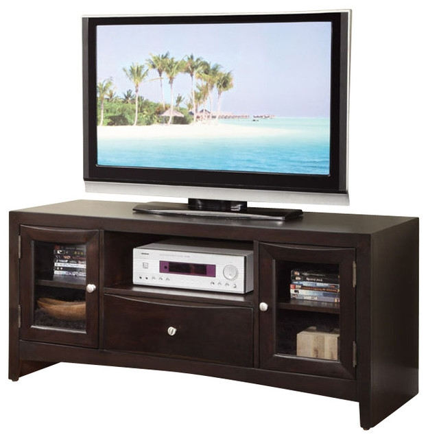 Excellent Latest Dark Wood TV Stands With Regard To Modern Versatile Wood Entertainment Tv Stand Console Shelves (Image 15 of 50)