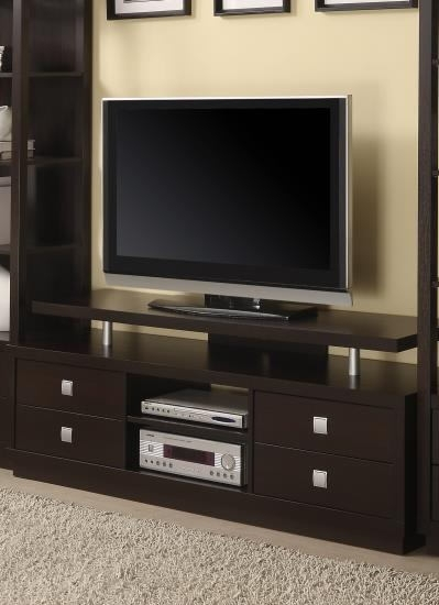 Excellent Latest Elevated TV Stands Regarding Espresso Finish Wood Tv (Image 15 of 50)