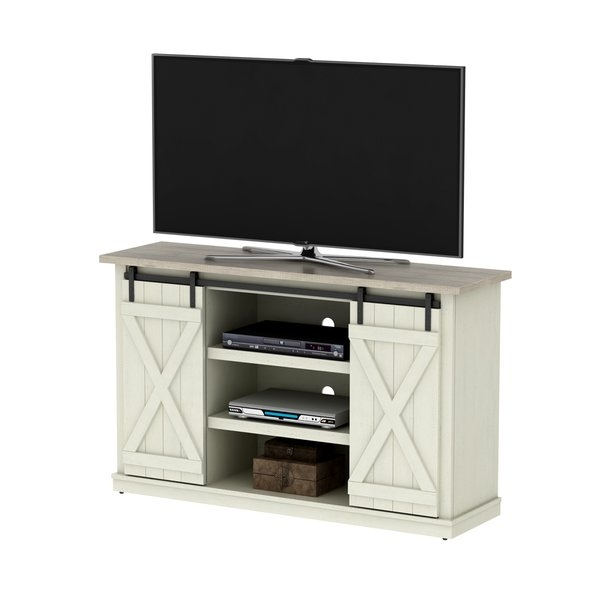 Excellent Latest Glossy White TV Stands Intended For Modern Tv Stands Entertainment Centers Allmodern (Image 12 of 50)