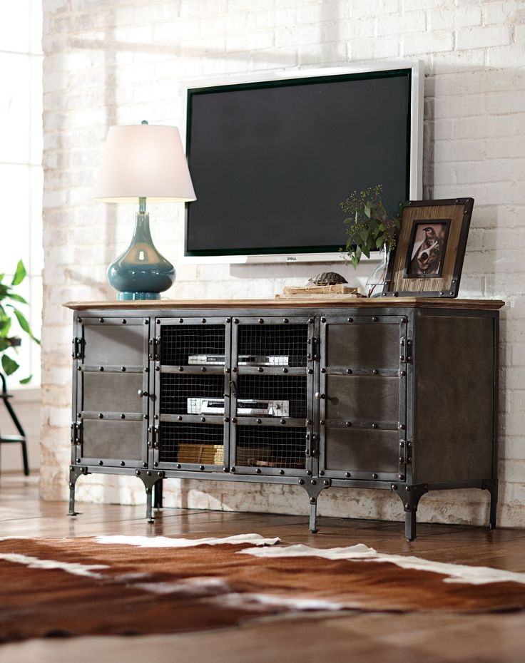 Excellent Latest Industrial TV Cabinets Inside Best 25 Metal Tv Stand Ideas On Pinterest Industrial Tv Stand (Image 6 of 50)