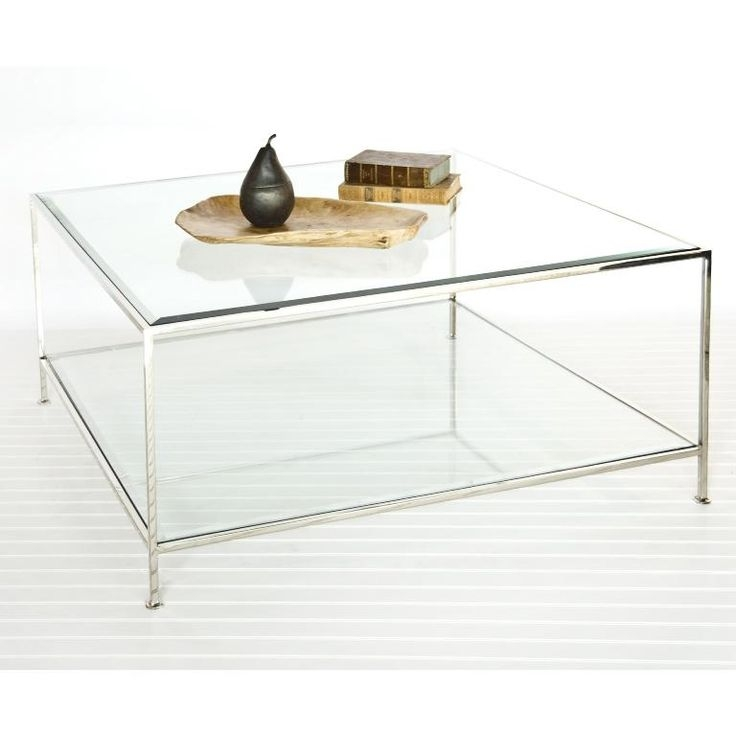 Excellent Latest Large Square Glass Coffee Tables With Living Room Top Square Glass Coffee Table Simple Pertaining To (Image 15 of 50)
