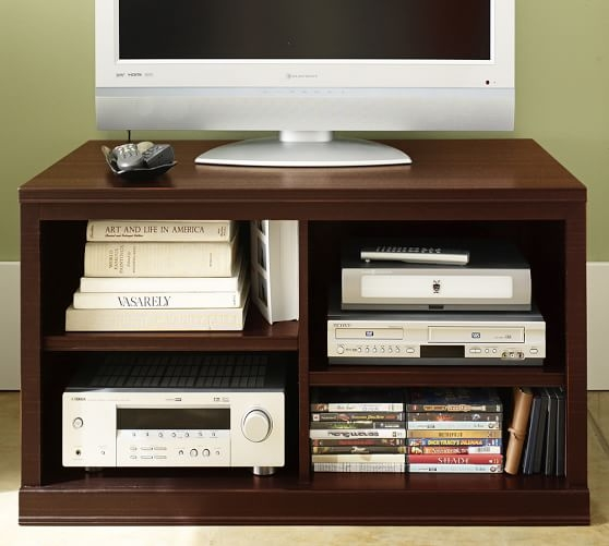 Excellent Latest Mahogany TV Stands  With Logan Small Tv Stand Mahogany Stain Pottery Barn (Image 19 of 50)